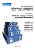 User's Manual - Heat recovery units HRU-ERGO
