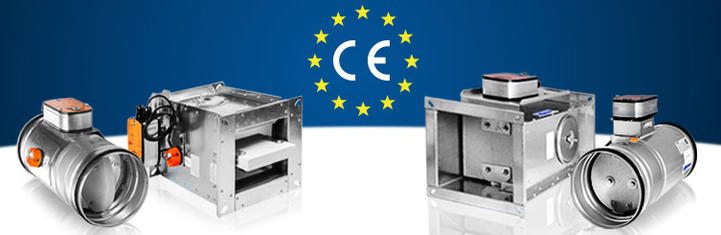CE certified fire dampers