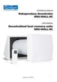 User's Manual - Decentralized Heat recovery unit HRU-WALL-RC