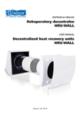 User's Manual - Decentralized Heat recovery unit HRU-WALL