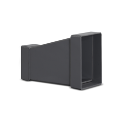 Asymmetric square-square reducer made of plastic materials   Alnor