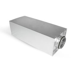 Round acoustic silencers -rectangular casing | Alnor
