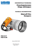 Technical documentation - Shut-off fire dampers FDA12