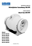 User's Manual - Duct inline fans DV-PP
