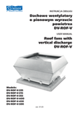 User's Manual - Roof fans DV-ROF-V