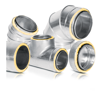 Preinsulated ducts and fittings